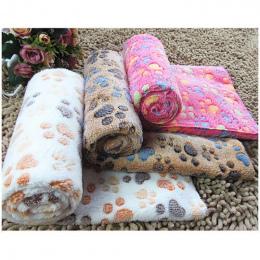 Śliczne Ślad Mata Pies Kot Pet Snu Koce Jesienno-zimowa koc Ciepły Pies Ręcznik Z Mikrofibry Dla Małych Zwierząt Domowych Łóżko