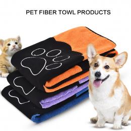 Pet Suszenie Ręczników Ultra chłonne Pies Kąpieli Ręcznik Z Mikrofibry 86*49 cm Miękki Materiał Z Mikrofibry Paw Print Kąpieli r