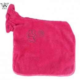 Pies Szlafrok Ciepłe Zwierzęta Odzież Super Chłonne Suszenie Ręczników Dla Zwierząt haft Łapa Kota Kaptur Zwierzę Ręcznik kąpiel