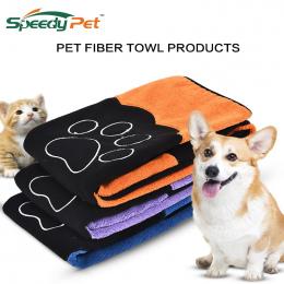 Super Pet Dog Kieszeni Paski Bardzo chłonne Suszenie Ręczników z Łapy Zwierząt Kot Ręcznik kąpielowy Z Mikrofibry Wygodne Miękki