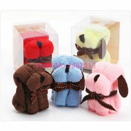 Nowy Losowy kolor 20*20 cm Kreatywne prezenty cartoon kształt małe kwadraty zapakowane ręczniki ręcznik ręcznik psa mały pies da