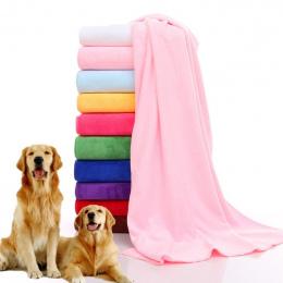 Darmowa Wysyłka Szybkie Schnięcie Pet Grooming Miękkie Ręczniki Ręcznik New Arrival Pet Dog Cat Polaru Pure color Ręcznik Przysł