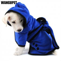 Pies Szlafrok Ciepłe Ubrania Dla Psów Super Chłonne Pet Suszenia Ręcznik kąpielowy Ręcznik Hafty Łapa Kota Kaptur Pet Grooming P