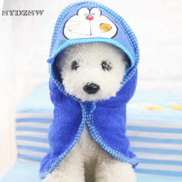 Cartoon Zwierzęta Kąpieli Ręcznik Zabawny Pies Koc dla Yorki Puppy Psy Koty Super Chłonne Szlafrok Garnitur Odzież Pies Chihuahu