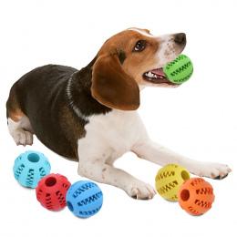 5/7 cm Pies Zabawki Interaktywne Kule Gumowe Zwierzęta Pies Kot Puppy ElasticityTeeth Ball Dog Chew Zabawki Czyszczenia Zębów Ku