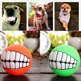Śmieszne Zwierzęta Dog Puppy Kot Piłka Zabawka Zęby PCV Dźwięk Chew Psy Grać Pobieranie Squeak Zabawki Pet Supplies
