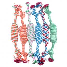 1 PC Losowy Kolor Nowy 27 CM Dog Pet Puppy Chew Bawełna Pleciony Knot Toy Trwała Oplocie Kości Liny liny Piłka Śmieszne narzędzi