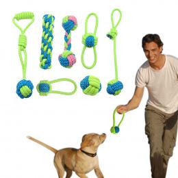 Bawełna Pies Zabawki Liny Węzeł Puppy Chew Ząbkowanie Zabawki Zęby Czyszczenia Zwierzęta Palying Ball Dla Małe Średnie Duże Psy