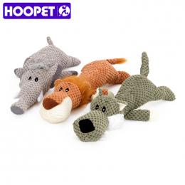 HOOPET Zwierzęta Zabawki Kształt Zwierząt Lew Słoń Dźwięk Chew Trzy Kolory Interaktywne Zabawki