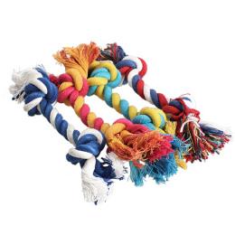 Hot 1 sztuk Zwierzęta Psy Pet Supplies Pet Dog Puppy Toy Cotton Chew Knot Trwała Oplocie Kości Liny 15 cm śmieszne Narzędzie (Lo