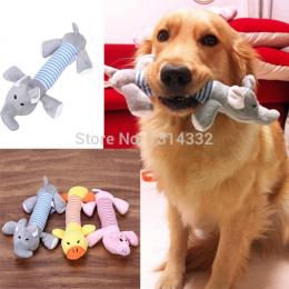 Darmowa wysyłka Zabawki Dla Psów Pet Puppy Dog Pet Puppy Plush Dźwięku Kaczka Plush Dźwięk Chew Piszczałka Piskliwy Pig & Słoń Z