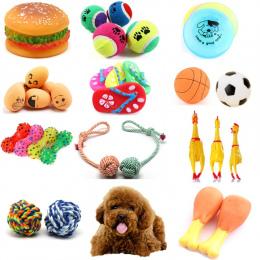 Gumy Squeak Zabawka dla Psa Krzyczy Kurczaka Chew Kości Pantofel Piskliwy Piłka Psów Zębów Szlifowania i Szkolenie Zabawki Dla Z
