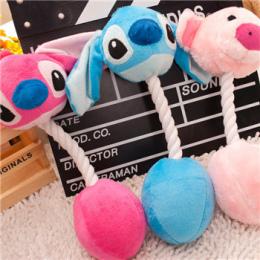 Drop Shipping 3 Cartoon Produkty Dla Zwierząt Zabawki Pluszowe Zabawki Dla Psów Pet Koty Słodkie Gryzienie Liny Zabawki Dźwiękow