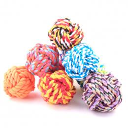 Nowy Projekt Zwierzęta Liny Piłka Zabawki Zgryz Ball Kolorowe Squeak Zabawki Pies Wełny Piłka Zabawki 3 Rozmiar Pet Puppy Chew z