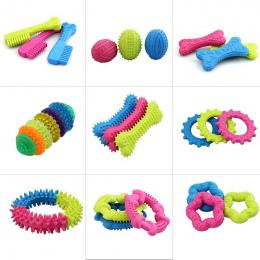 1 PC Śliczne Gumowe Odporne Bite Czyste Zęby Training Toy Dla Zwierzęta Pies Kot Puppy Chew losowy kolor