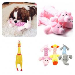 1 pc Pluszowe/Guma Dog Chew Zapiszczeć Zabawki Świnia Słoń Kaczka Zwierzęta Zabawki Liny Puppy Dźwięku Zabawki Szkolenia Interat
