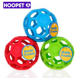 HOOPET Spustowy Food Ball Dog Toy Naturalne Nietoksyczne Gumy Teddy Złoty Pies Geometryczne Zabawka Piłka Ugryźć Odporne na zęby