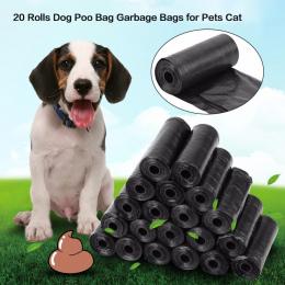 20 rolki/300 sztuk Dog Poop Bag Czarny Czerwony Różowy Niebieski Zwierzęta Poop Torby Pies Kot Odpadów Pick Up czyste Torba Dla