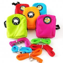 Kolorowe Nylon Plecak dla Kotów Domowych Pies z Harness leash wielofunkcyjny Plecak dla Małych Psów Pies Plecak Torba