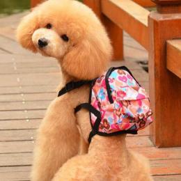 Cartoon Cute Dog Plecak Płótnie Multicolor Pet Dog Carrier Torby Puppy Tornister Klatki Piersiowej Plecak Dla Psów I Kotów