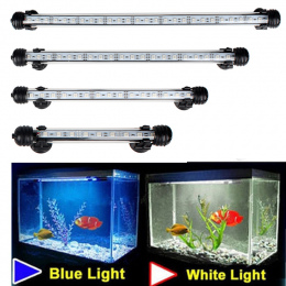 Aquarium Fish Tank 9/12/15/21 LED Light Blue/White 18/28/38 /48 cm Bar Zatapialne Wodoodporna Klip Lampa Decor UE Wtyczka