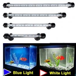 Aquarium Fish Tank 9/12/15/21 LED Light Blue/White 18/28/38 /48 cm Bar Zatapialne Wodoodporna Klip Lampa Decor UE Wtyczka