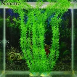 37 cm Podwodne Sztuczne Roślin Wodnych Ozdoby Aquarium Fish Tank Green Water Trawa Decor Krajobraz Dekoracji