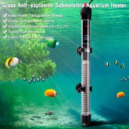 Mini Zatapialna Akwarium Podgrzewacz Pręt Grzewczy dla Ryb Akwariowych Zbiornika Regulacja Temperatury 220-240 v 25 w/50 w/100 w