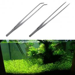 Nowy Prosty/Kolanko Ze Stali Nierdzewnej Zbiornik Pincety Szczypce Narzędzia Fish Tank Akwarium Rośliny Wodne Kleszcze Klip Do S