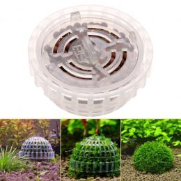 Plastikowe Dekoracji Akwarium Żywo Rośliny Fish Tank Media Moss Ball Filtr Fish Tank Wodne Zwierzęta Mineralnej Kulki Ozdoby