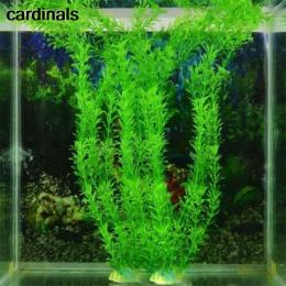 2017 Nowy 37 CM Zielone Sztuczne Ekologiczny Plastik Fałszywe rośliny Wodne Rośliny Aquarium Fish Tank Akwarium Akwarium Akcesor