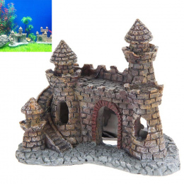 Żywica Cartoon Zamek Akwarium Dekoracje Zamek Wieża Ozdoby Fish Tank Akwarium Akcesoria Dekoracji