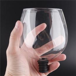 Kreatywny barware przejrzyste bezpośrednio do picia wina karafka szklany pakowane w butelki wina korek bar narzędzia