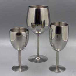 2 sztuk Klasyczne Kieliszki do wina Ze Stali Nierdzewnej 18/8 Wineglass Bar Kieliszek do wina Champagne Cocktail Kubek Do Picia