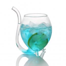 Kreatywny Whisky Szkło żaroodporne Vampire Wine Glass Ssanie mleka Sok Kubek Herbaty kubek Wina z Rury Do Picia Słomy