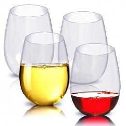 4 sztuk/zestaw Niezniszczalny PCTG Czerwone Wino Szkło Przezroczyste Owoców Sok Kubek Piwa Nietłukące Szklanki Plastikowe Kubki