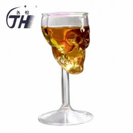 GH Hot 75 ML Wysokiej Szkielet Czaszka Szkło Puchar Przejrzyste Kubek Kubek Szklanka Whisky Szklanki Klub Nocny Dekoracji Domu