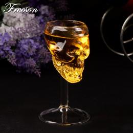 2 sztuk/partia Gothic Skull Wina Szkła Czara Kubek 75 ml Szef Szkło Party Bar Picie Statku Wódka Whisky Verre Szampana puchar