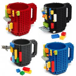 1 Pc 12 uncja Wbudowany Na Cegły Typu Bloki Blok Puzzle PODŁUBAĆ Kubek Filiżanka Kawy Kubek Przenośny Szklanka Kubek do picia 4