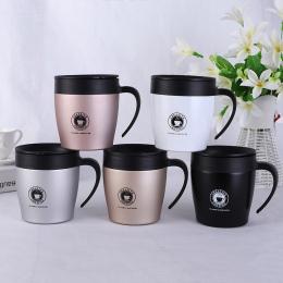 Podróży Kubek Kawy Kreatywny z Pokrywą Ze Stali Nierdzewnej Wysokiej jakości Filiżanki i Kubki Herbaty Mleka Drinkware