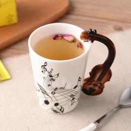 Creative Music Skrzypce Style Gitara Ceramiczne Kubek Kawy I Herbaty Mleka Klepka Kubki z Uchwytem Kubek Kawy Nowość Prezenty