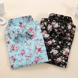 Dioufond Kobiety Lato Bluzki Vintage Floral Bluzka Z Długim Rękawem Koszula Kobiety Camisas Femininas Kobiet Topy Moda Bawełnian