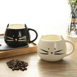 400 ml Cute Cat Zwierząt Kawy Kubek Mleka Kreatywny Ceramiczne Kubki Porcelanowe Kubki Herbaty Śniadanie Drinkware Nowość Ładne
