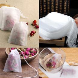 100 Sztuk/partia Pusty Teabags 5.5x7 CM Pachnące Herbaty Torby Sznurkiem leczyć Seal Filtr Papierowy na Zioła Luźne Herbaty Bols