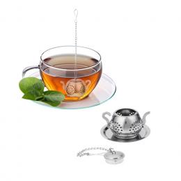 Stal nierdzewna Filtr Teaware Herbaty Sitkiem Herbaty Ziołowe Spice Infuser Czajnik Tacy Akcesoria Kuchenne Narzędzia zaparzacze