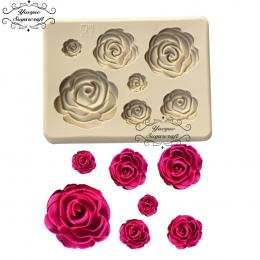 Yueyue Sugarcraft Rose Flower silikonowe formy kremówka mold ciasto dekorowanie narzędzia chocolate confeitaria formy do pieczen