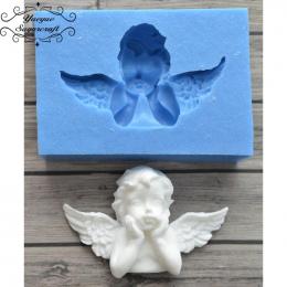 Yueyue Sugarcraft Najnowszy Anioł Ramki silikonowe formy kremówka mold ciasto dekorowanie narzędzia chocolate gumpaste mold