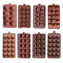 DIY silikonowe do pieczenia stabilne 15 otwory okrągłe silikonowe formy czekoladowe galaretki pudding formy formy silikonowe ice