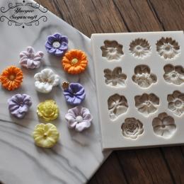 Yueyue 1 sztuka Kwiat formy silikonowe kremówka Sugarcraft gumpaste mold ciasto dekorowanie narzędzia chocolate mold