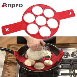 Anpro Nieklejąca Narzędzia Do Gotowania Jaj Pierścień Ekspres Jaj Silikonowe Formy Pancake Ser Kuchenka Jaj Pan Klapki Kuchni Pi